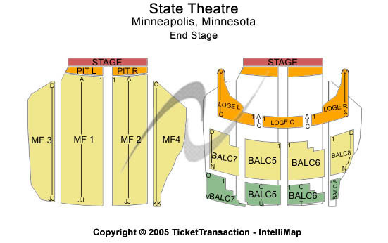Orpheum Theatre Mn Seating Chart Elcho Table