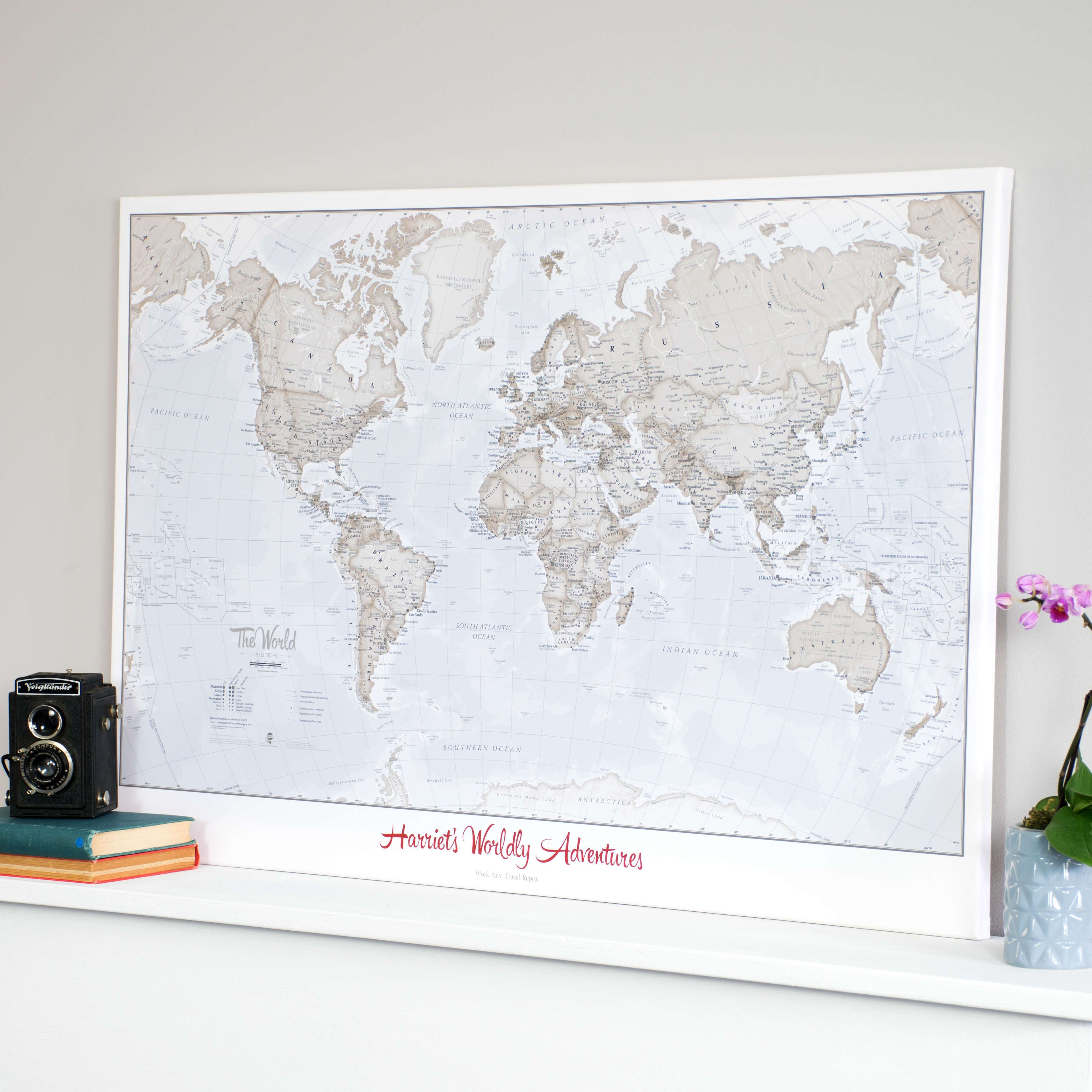 Art Wall Personalized World Is Art Wall Map Neutral