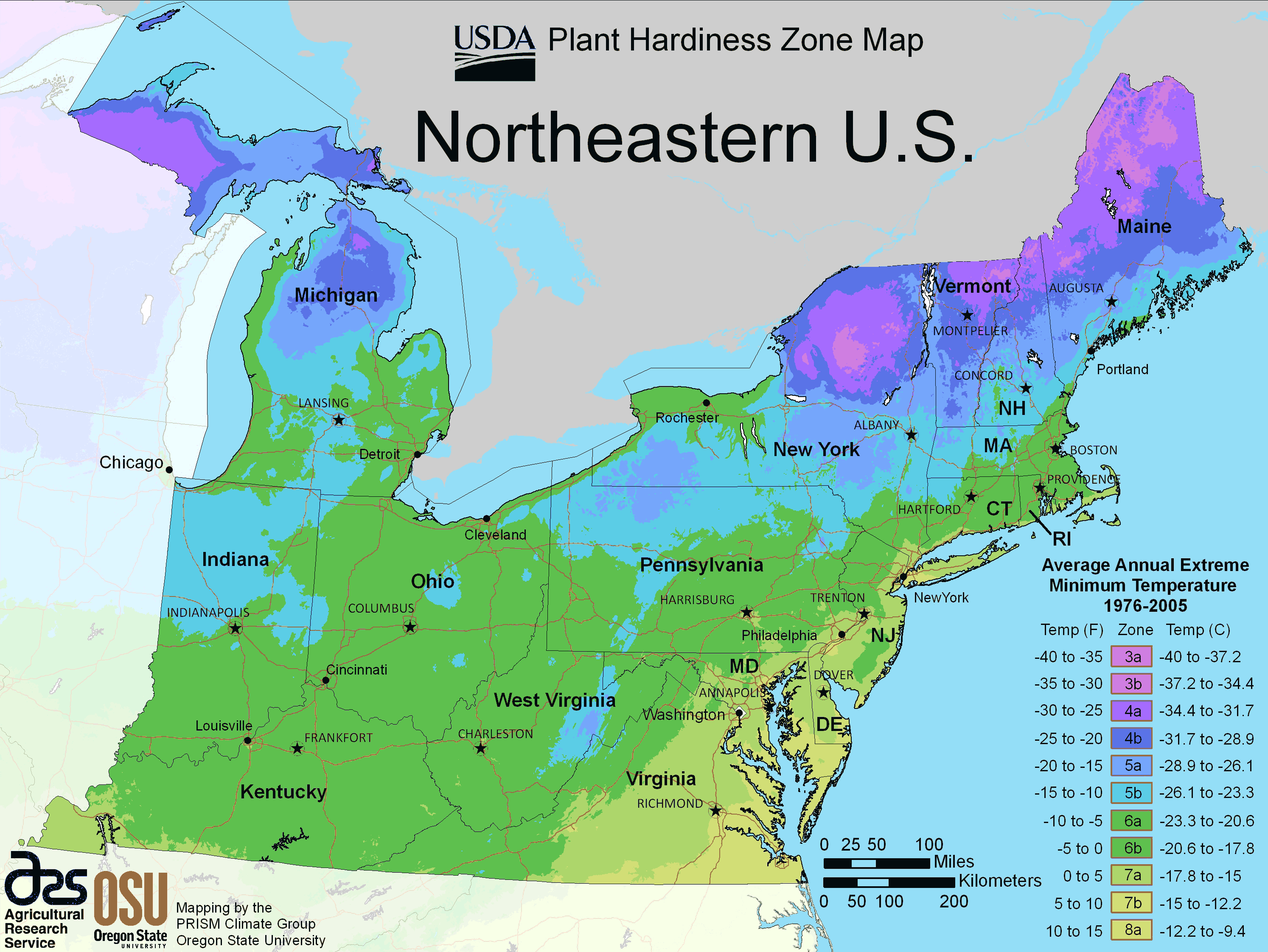 Us Maps Capitals Map Of Northeast Us