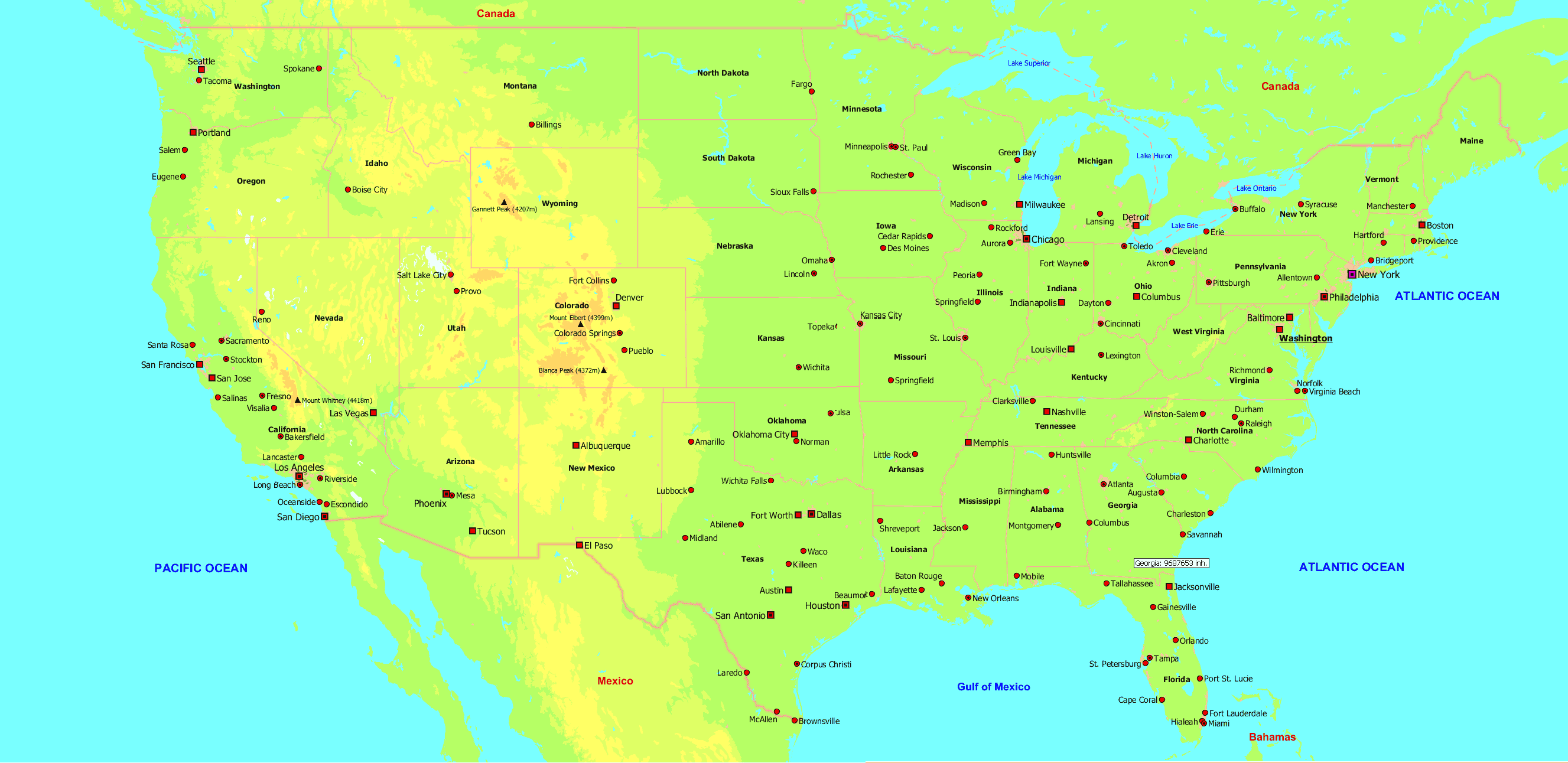 Canada Map With Cities njit campus map