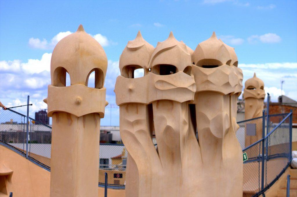 Barcelona_casa mila chimneys