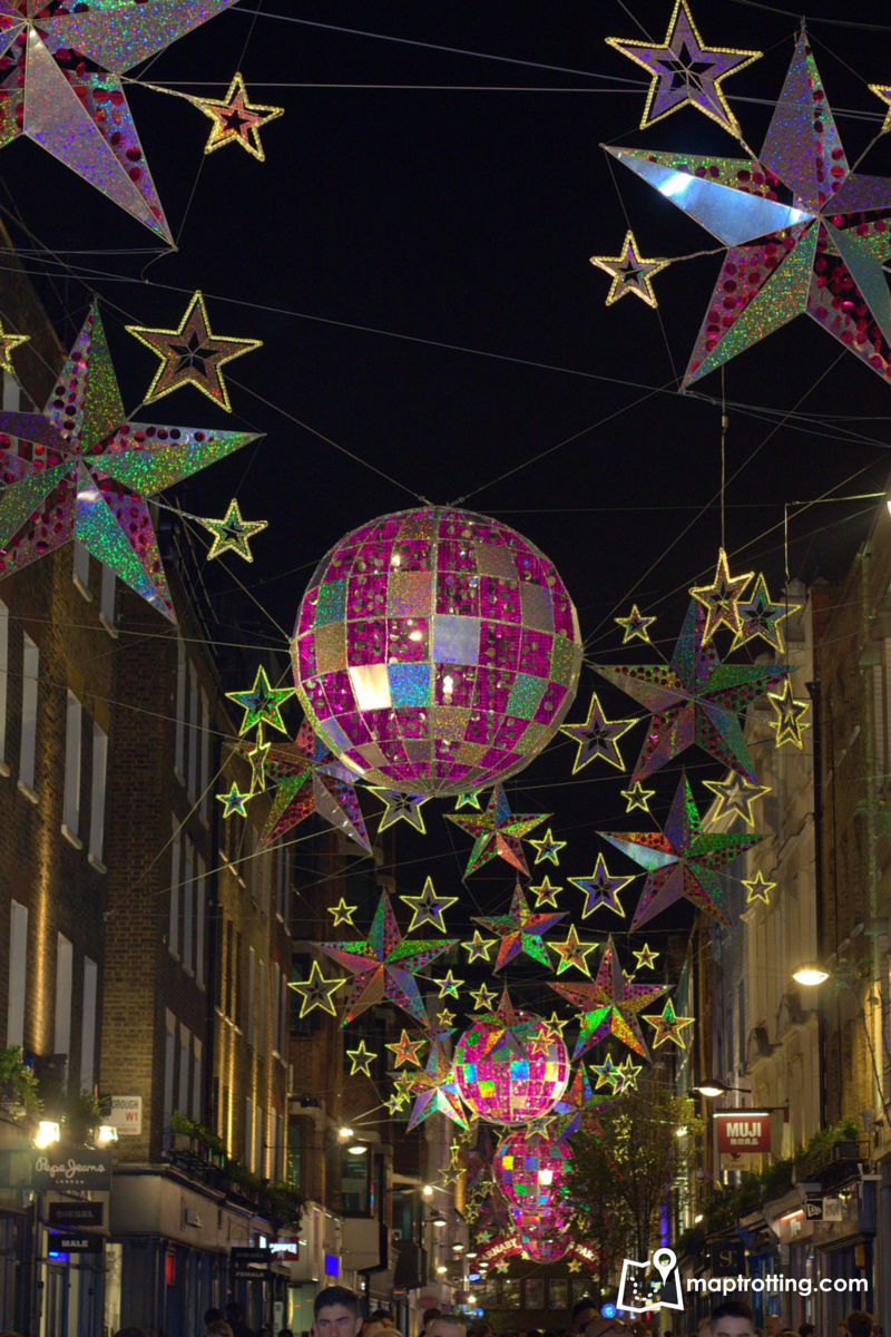 Christmas decorations at Carnaby Street_London