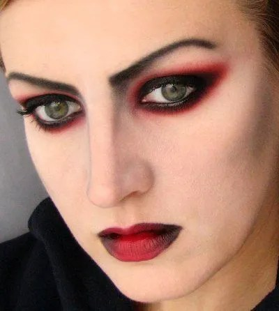 another vampire makeup tutorial - a bit of a different take on it - free printable face masks