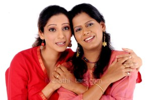 Madhura Velankar With Actress Vibhawari Deshpande
