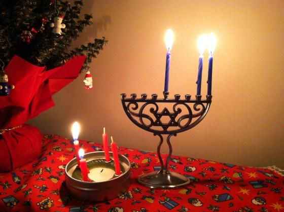 menorah advent wreath