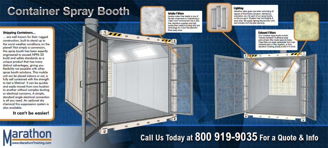 Portable Paint Booth Marathon Finishing Systemsinc