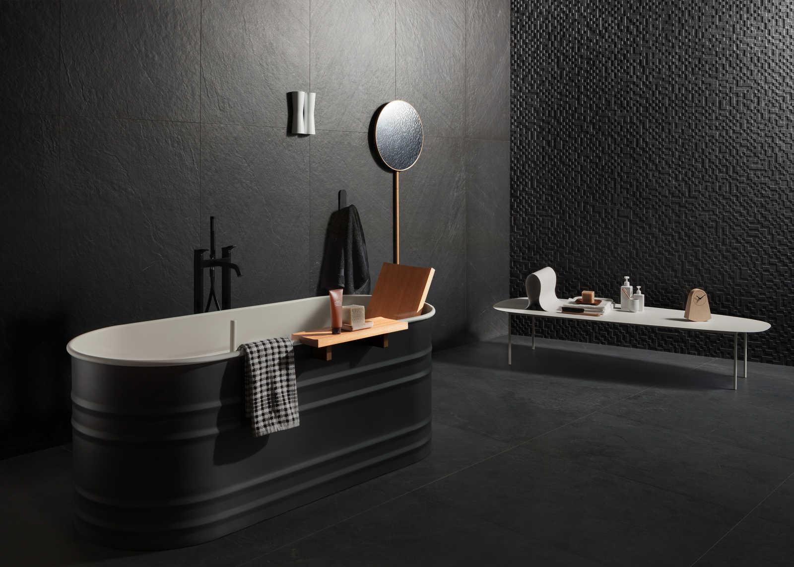 Piastrelle cucina nere mattonelle per bagno moderno great
