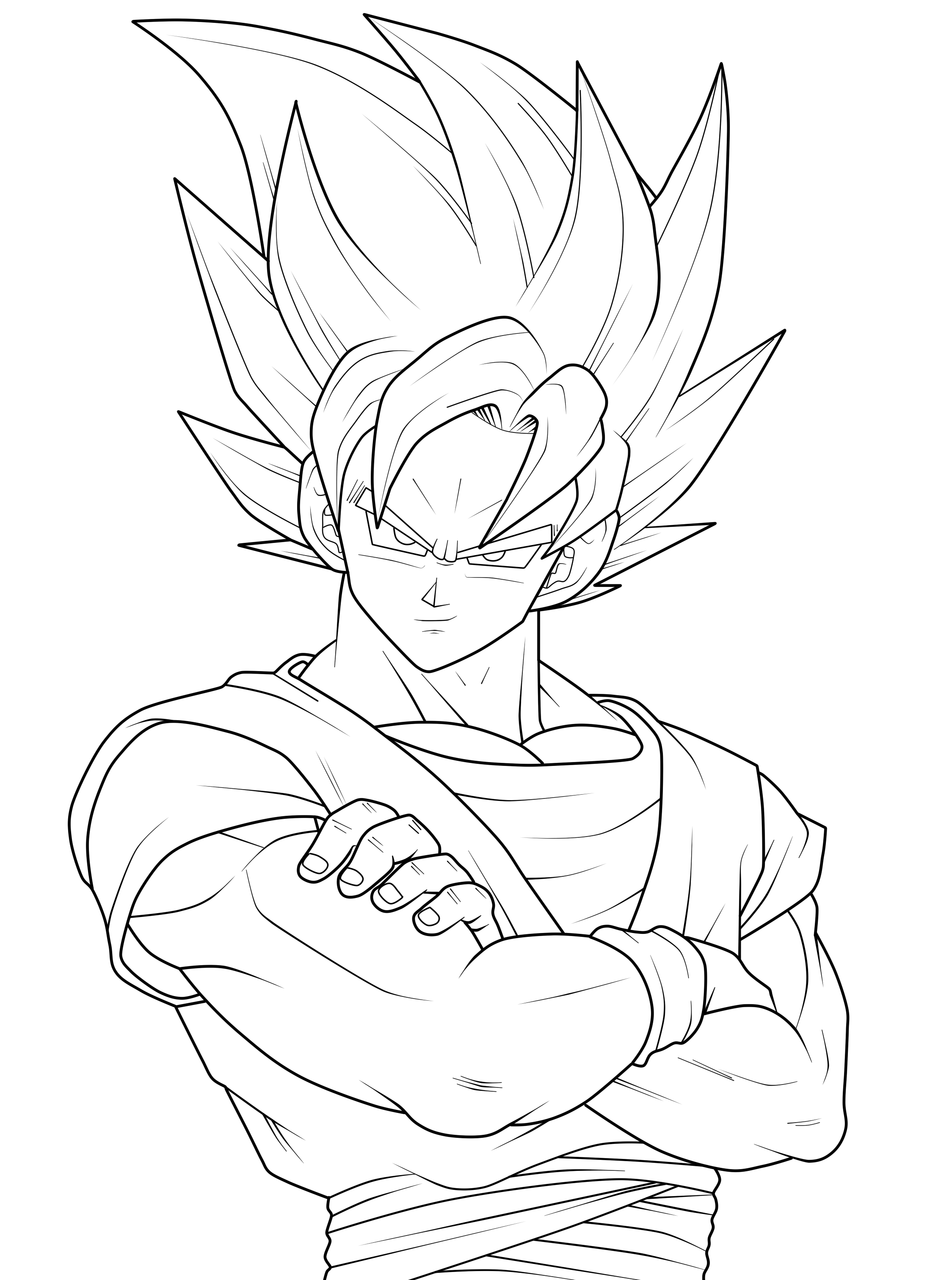 Free coloring pages of gotenks y gogeta 4