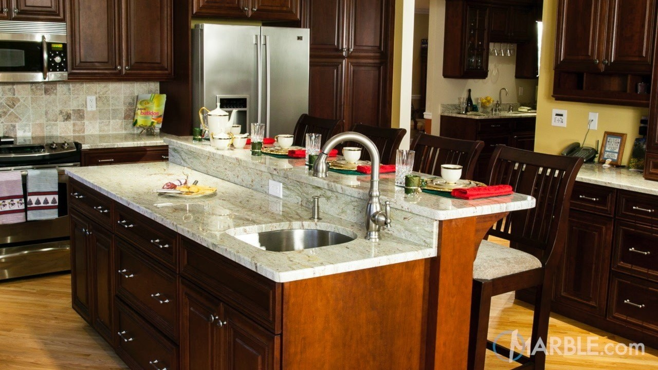 Kitchen Countertop Cabinets Top 5 Kitchen Countertop Choices For Dark Cabinets Marble