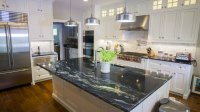 Cosmic Black & Black Galaxy Granite Kitchen Countertops