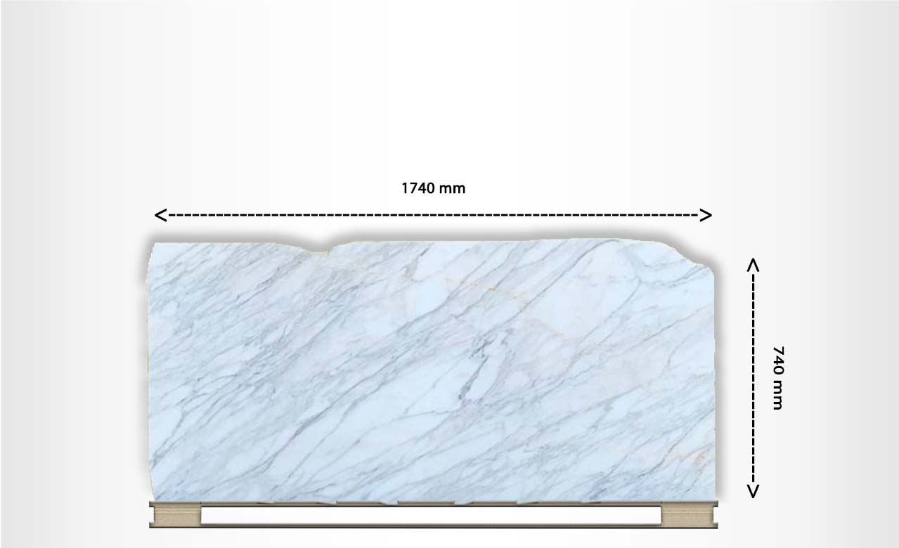 Stone Bench Tops Off Cuts Calacatta Marble Honed Off Cut 1095 127
