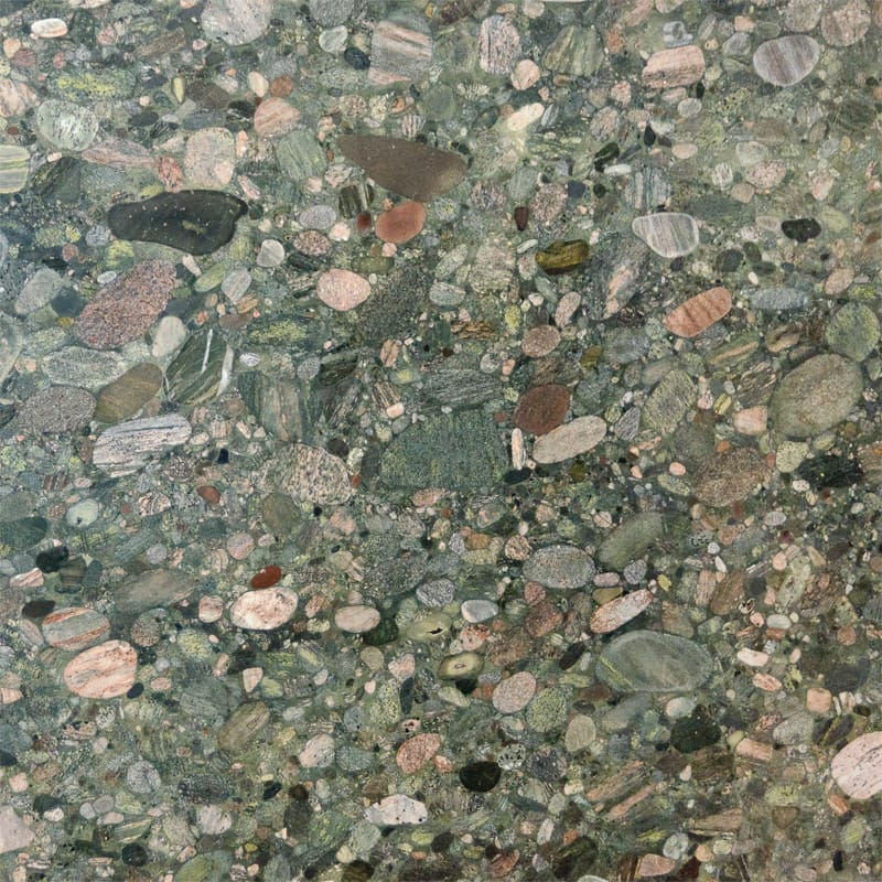 Outdoor Outlet Verde Marinace Polished Granite Slab Random 1 1/4