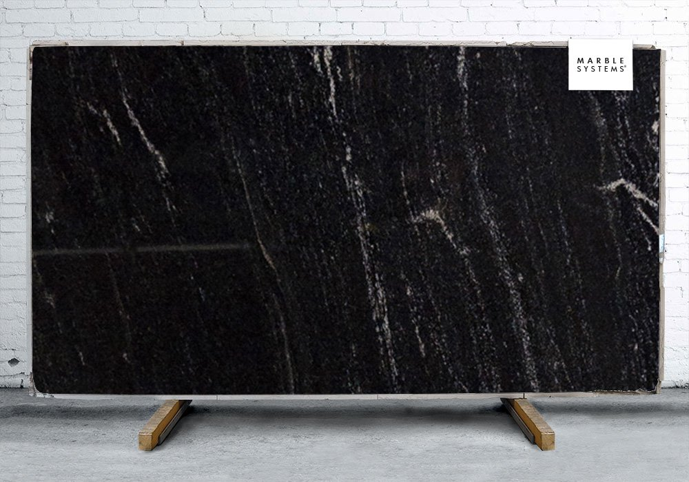 Granit Nero Nero Orion Polished Granite Slab Random 1 1/4 - Marble ...