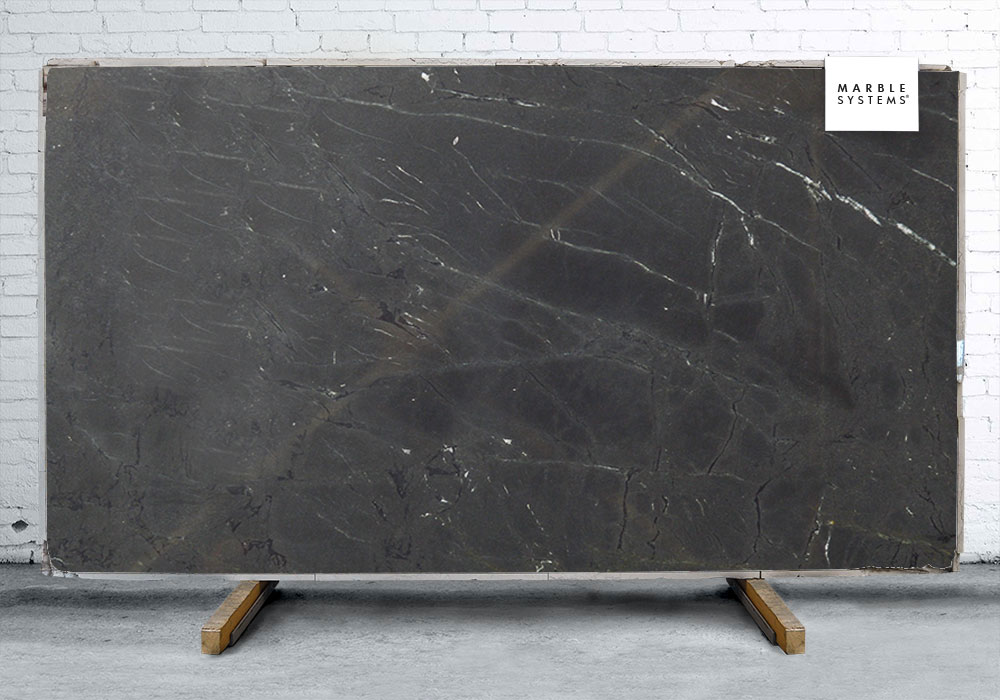 Negresco Honed Leathered Granite For Perimeter Kitchen Kitchen Negresco Polished Quartzite Slab Random 1 1/4 - Marble