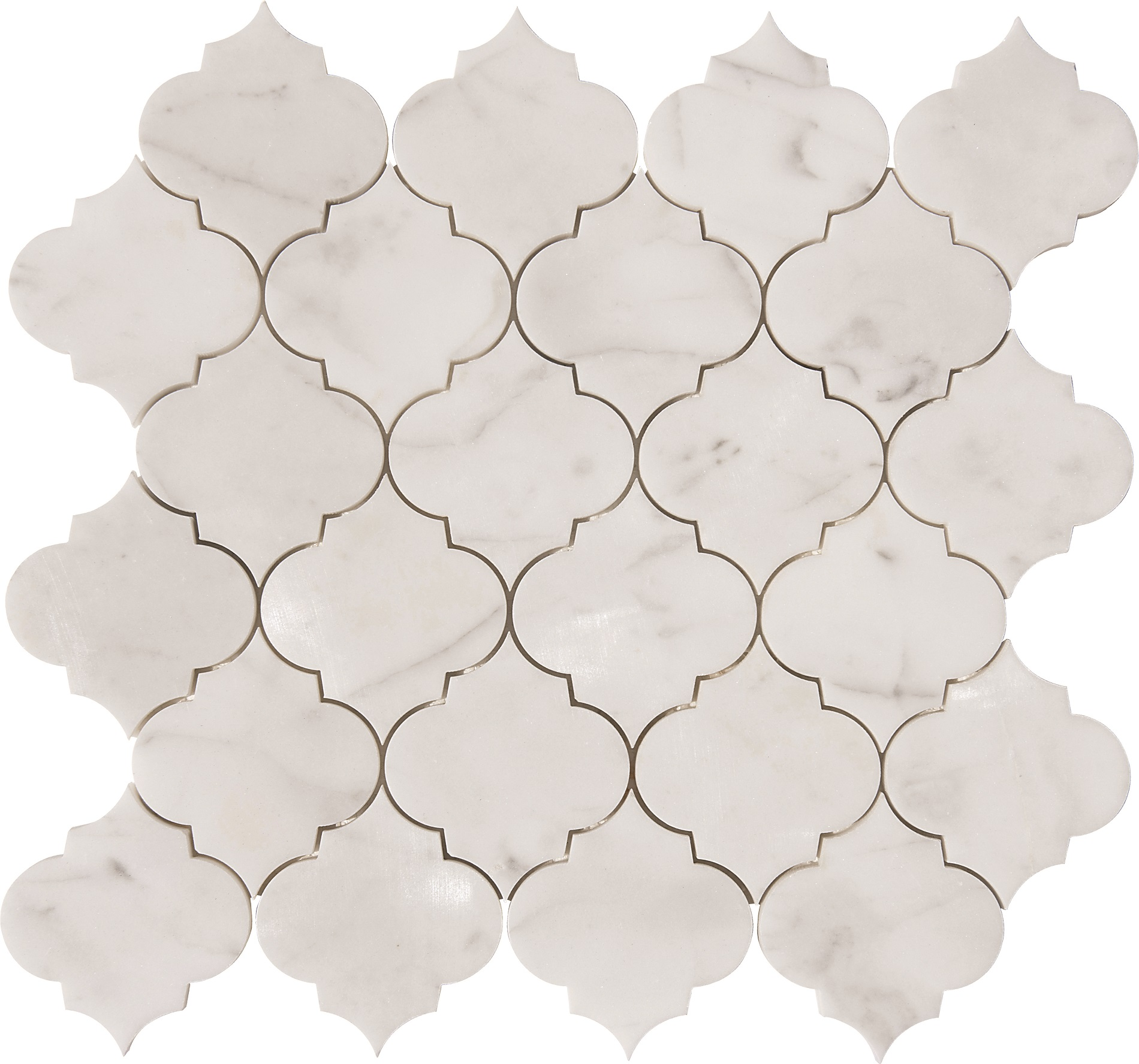 Arabesque Marble Tile Calacatta Gold Arabesque Waterjet Mosaics Polished