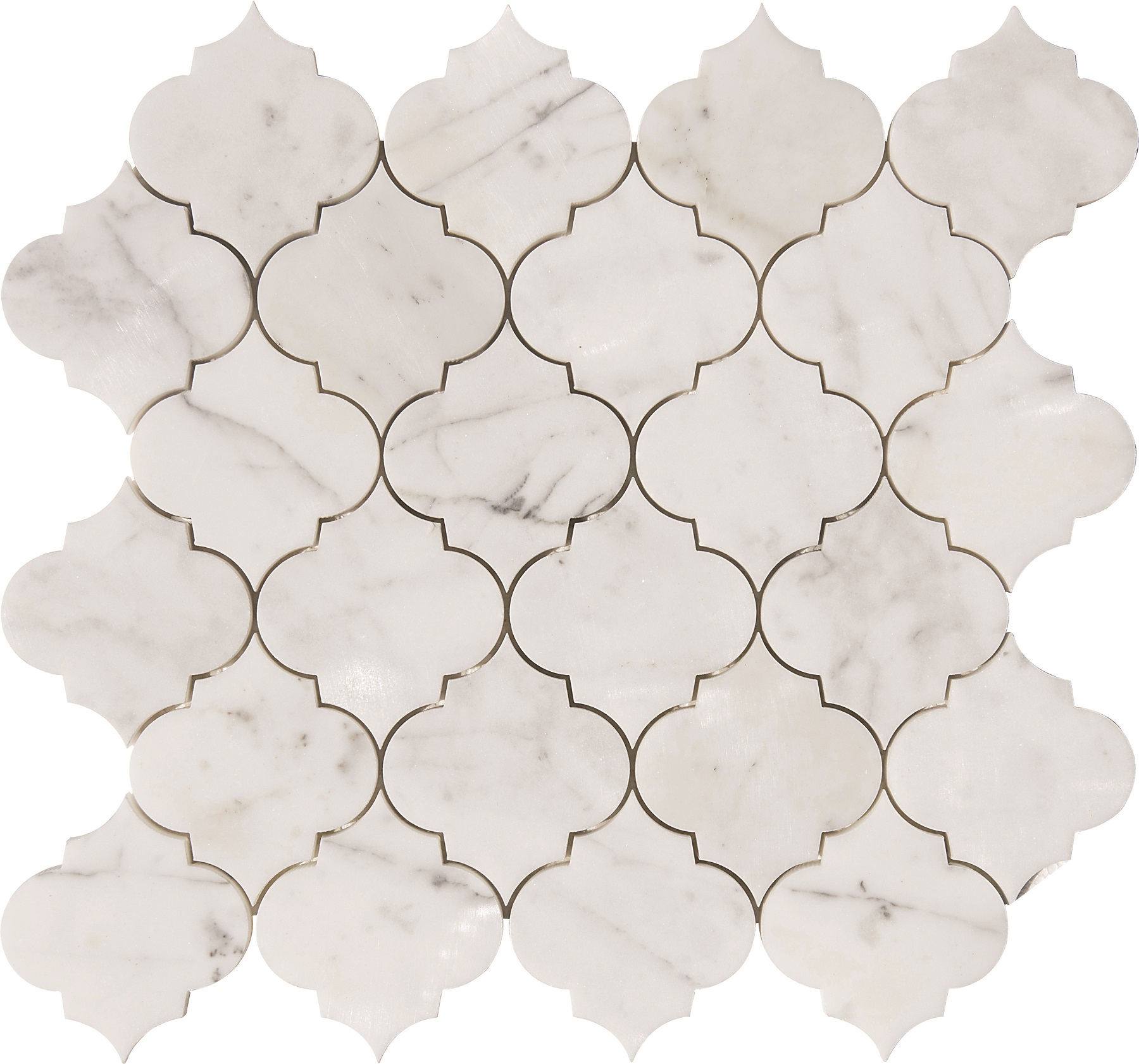 Arabesque Marble Tile Statuario Arabesque Waterjet Mosaics Polished