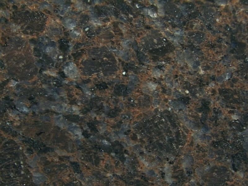 Blue Flower Granite Brown Suede Granite - Marblex Design International