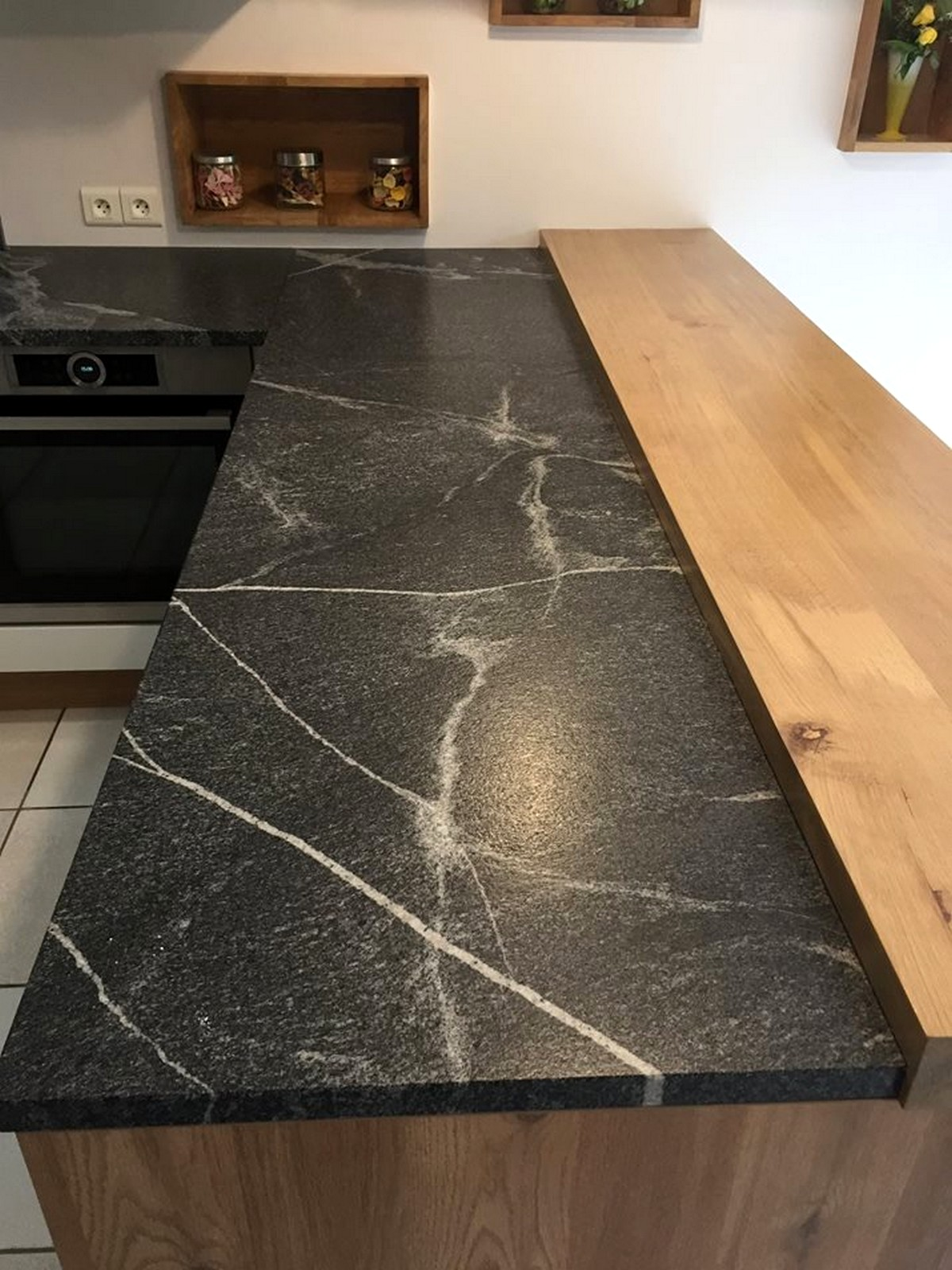 Plan Marbre Granit Jurassic Grey Cuir Effet Marbre Cuisine Ambiance Atelier