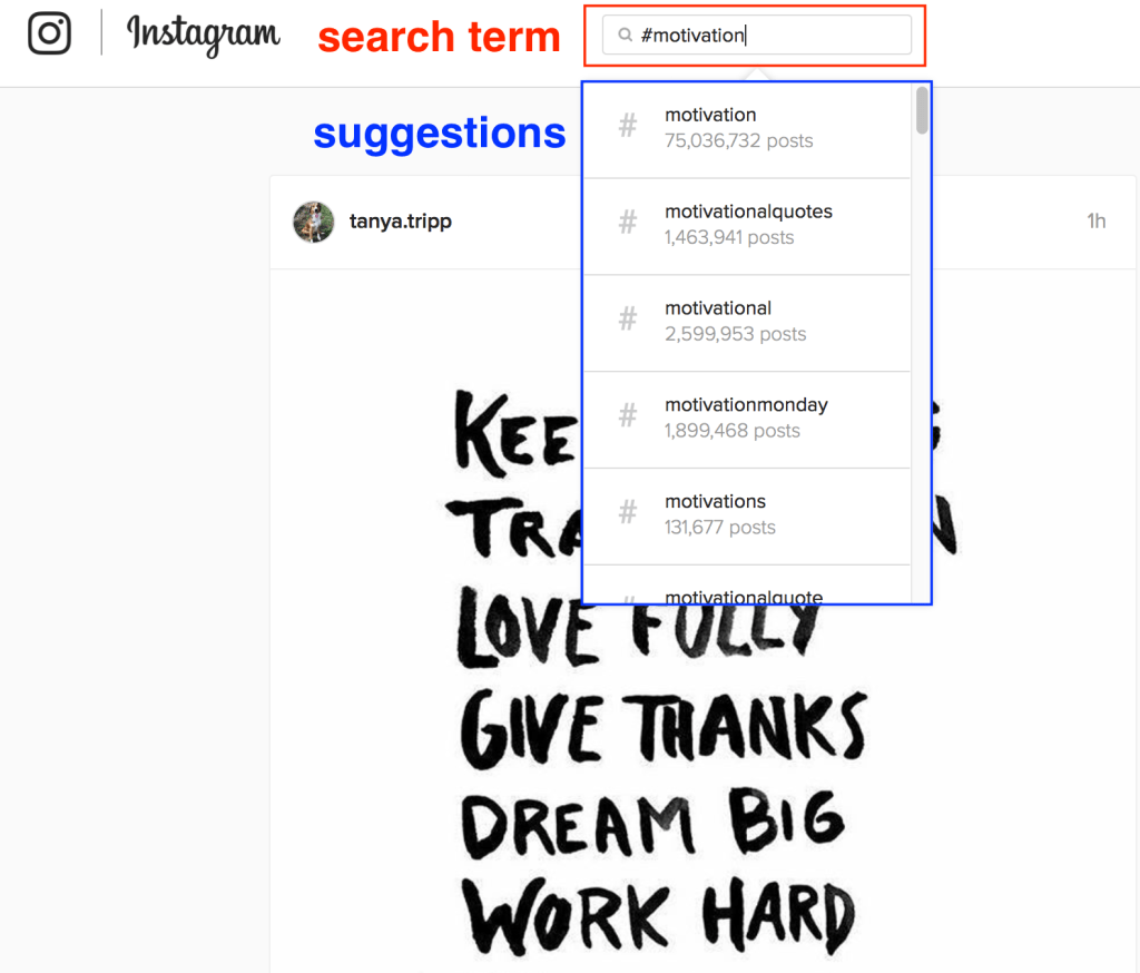 motivational instagram hashtags