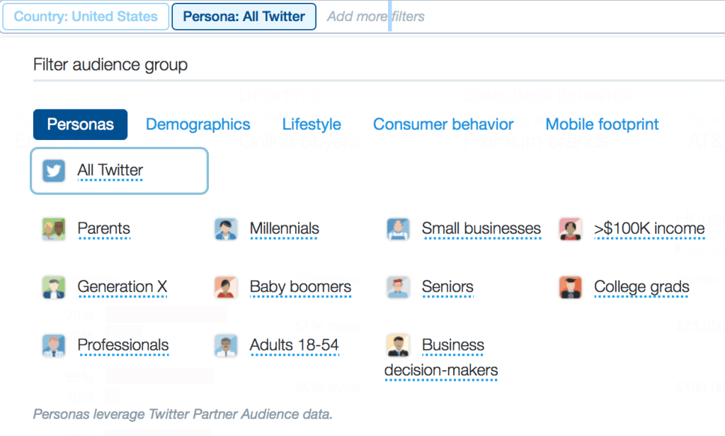 twitter analytics personas