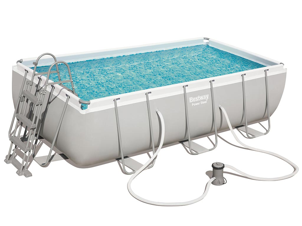 Piscine Tubulaire Bois Kit Piscine Tubulaire Bestway Power Steel Frame Pool Rectangulaire 404x201x100cm