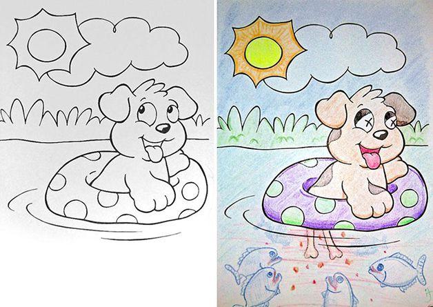 Corrompiendo los dibujos para colorear infantiles marcianos