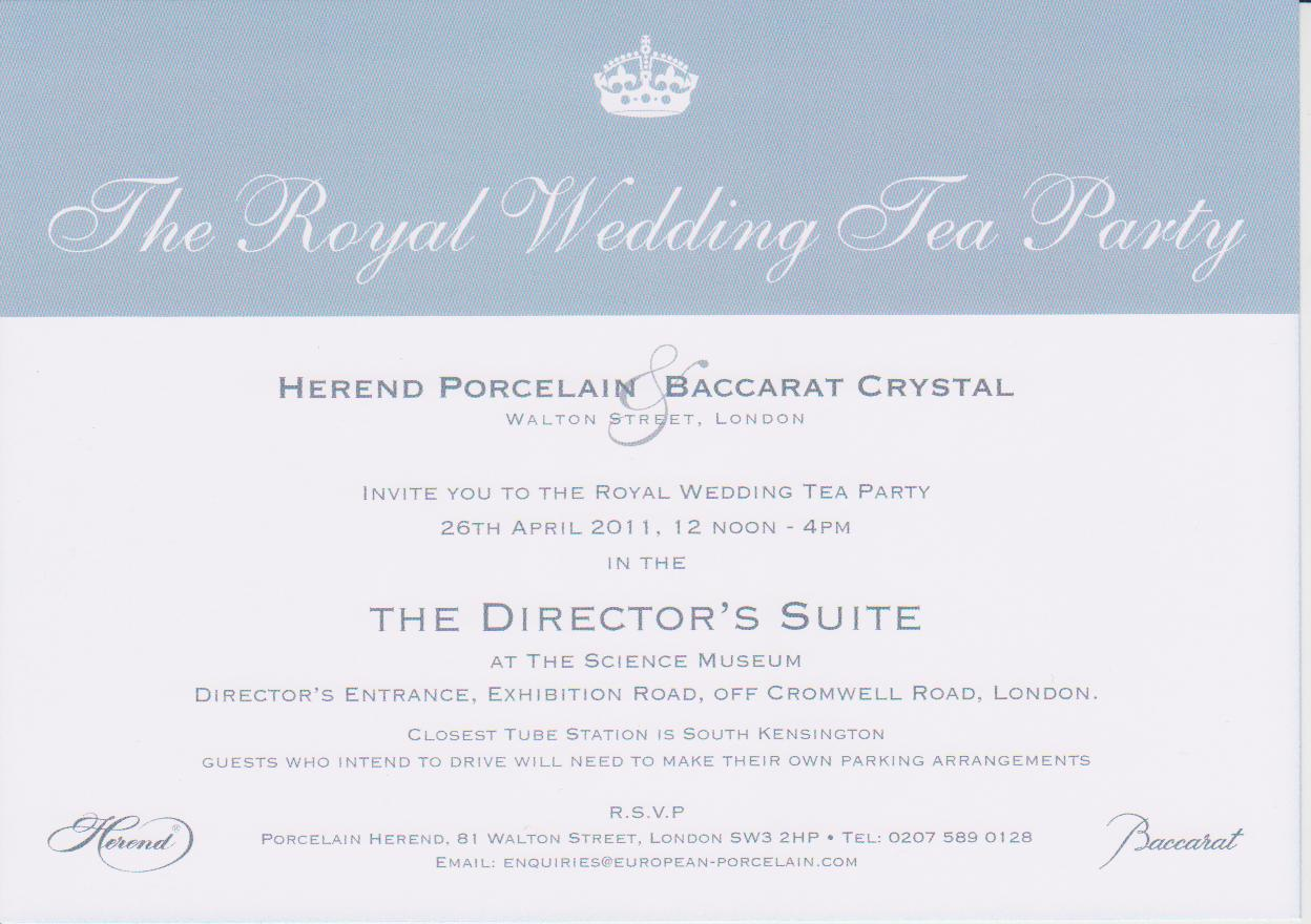royal wedding party invites royal wedding invitation Thank you for the invitation