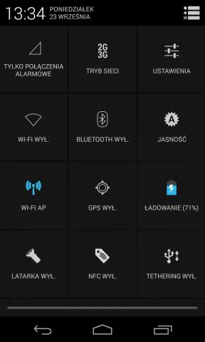 Quick Settings on Nexus 4
