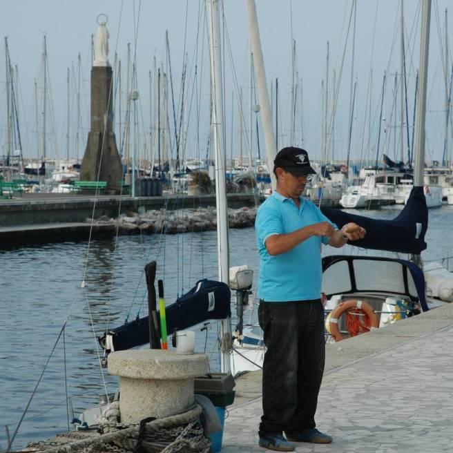 Viareggio: La pesca all'interno del canale Burlamacco