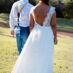 Mariage Réunion Ma Régisseuse wedding planner robe bretelles collier mariés