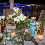 mariage, décoration, plante, table,
