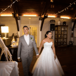 mariage, salle, réception, robe, costume,