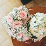 mariage, bouquet, fleurs,