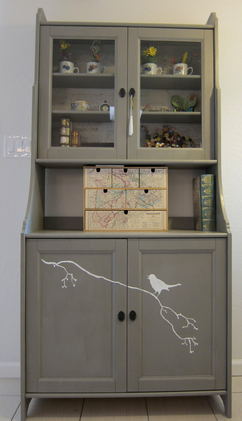 A Hutch cabinet for the kitchen nook  Margarete Miller