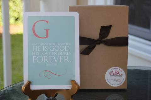Giveaway: ABC Scripture Cards by @lillightomine