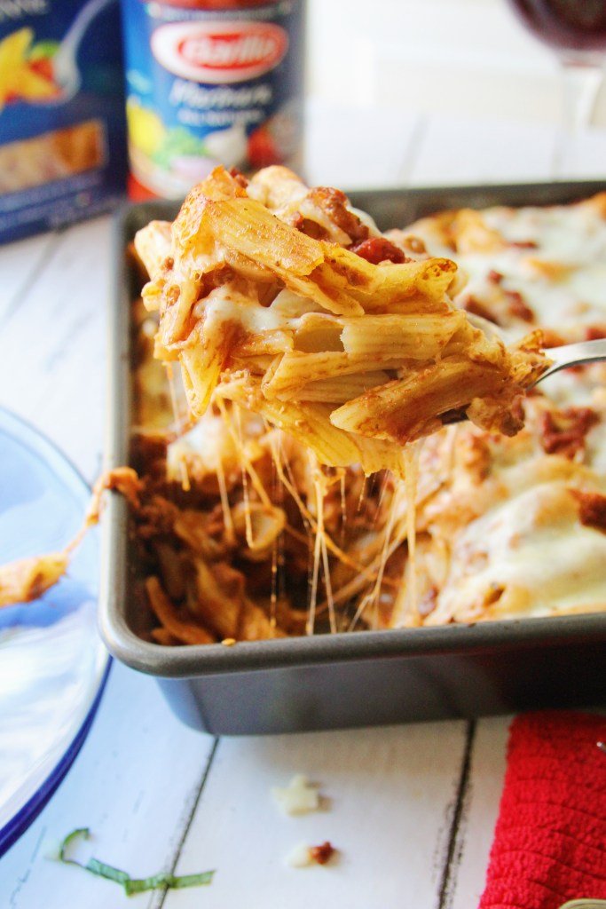 Baked Penne Pasta w: Red Wine Bolognese Sauce_8