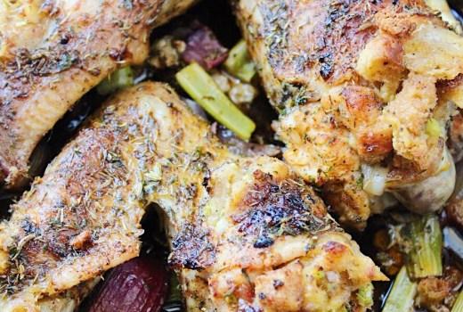 Roasted Stuffed Turkey Wings