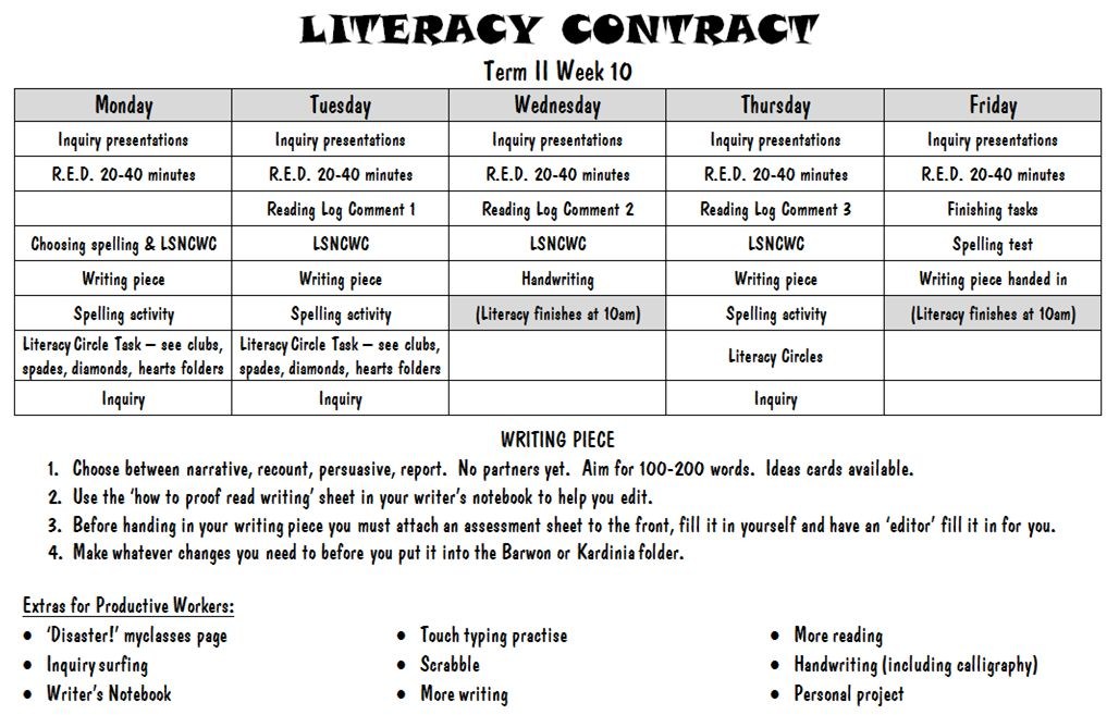 Academic Contract Template - Costumepartyrun