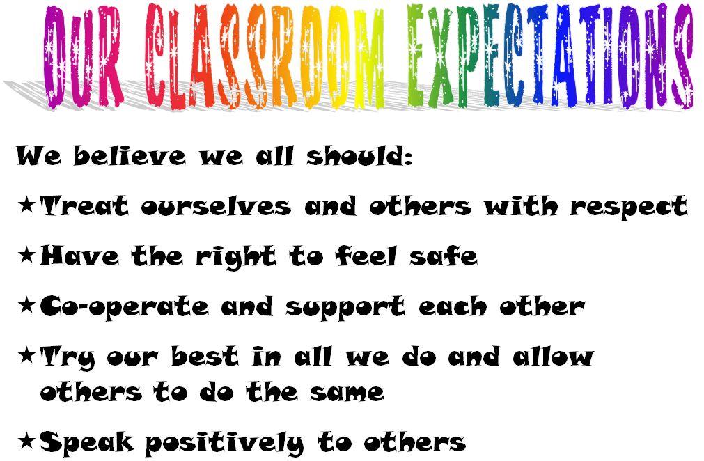 classroom expectations - Towerssconstruction