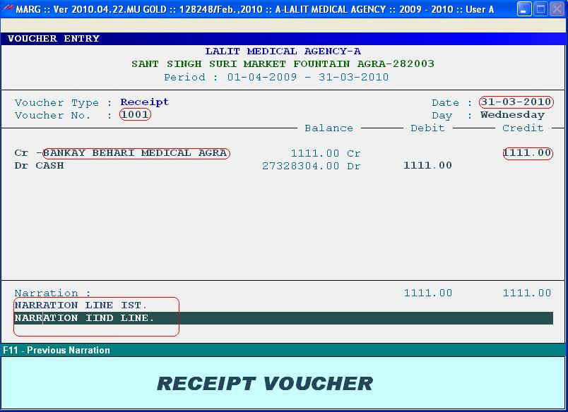 VOUCHER ENTRY MARG ACADEMY - how to make vouchers