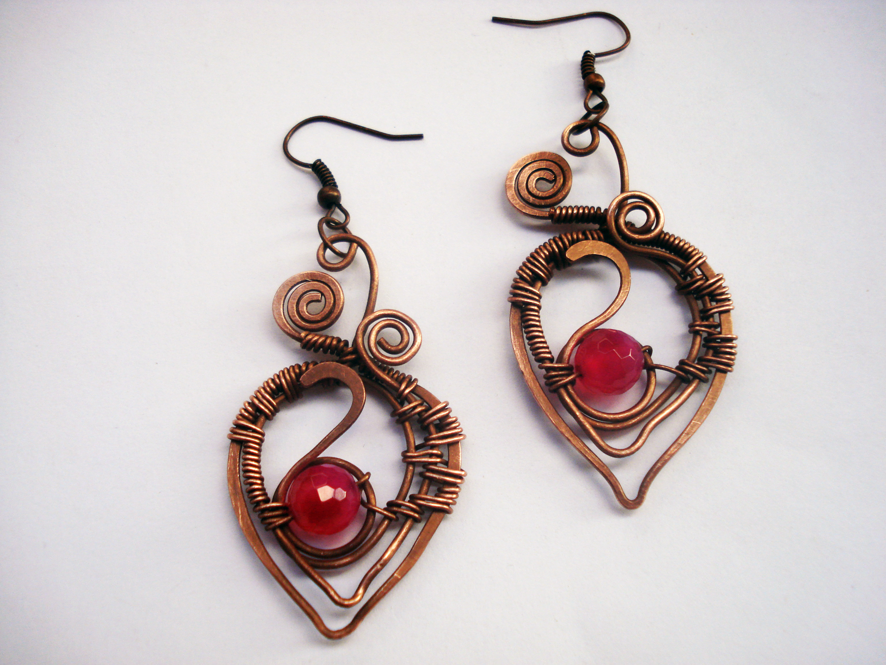 Unusual Handcrafted Jewelry Handmade Jewelry Copper Wire Wrapping Wrapped Wrap Natural