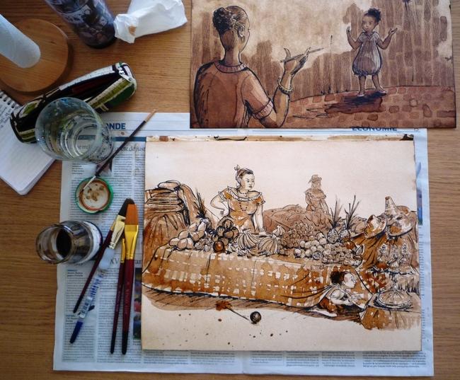 Illustrations en cours de réalisation