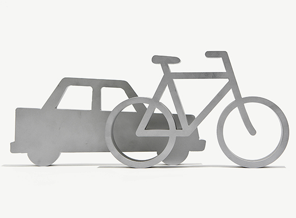 car and bicycle