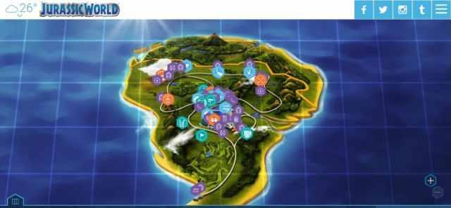 Mapa de Jurassic World
