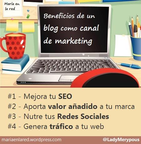 Beneficios de un blog como canal de marketing infografia
