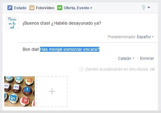 facebook multilingue traduccion automatica