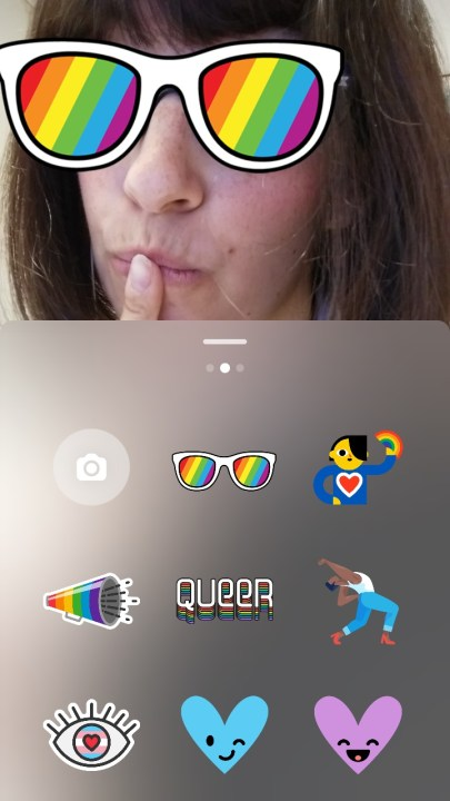 Instagram Stories Pride stickers boton lgbt Maria en la red