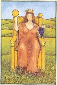 Rainha de Ouros - Tarô Mitológico - Reprodução