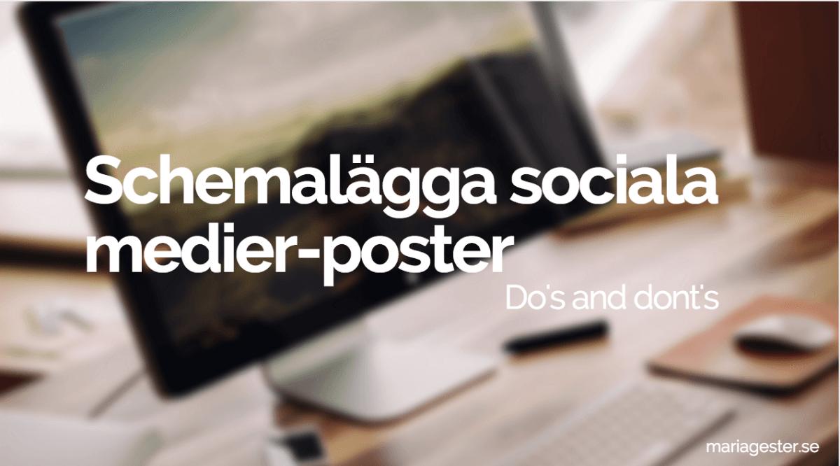 Schemalägga sociala medier-poster: Vad är ok och inte?