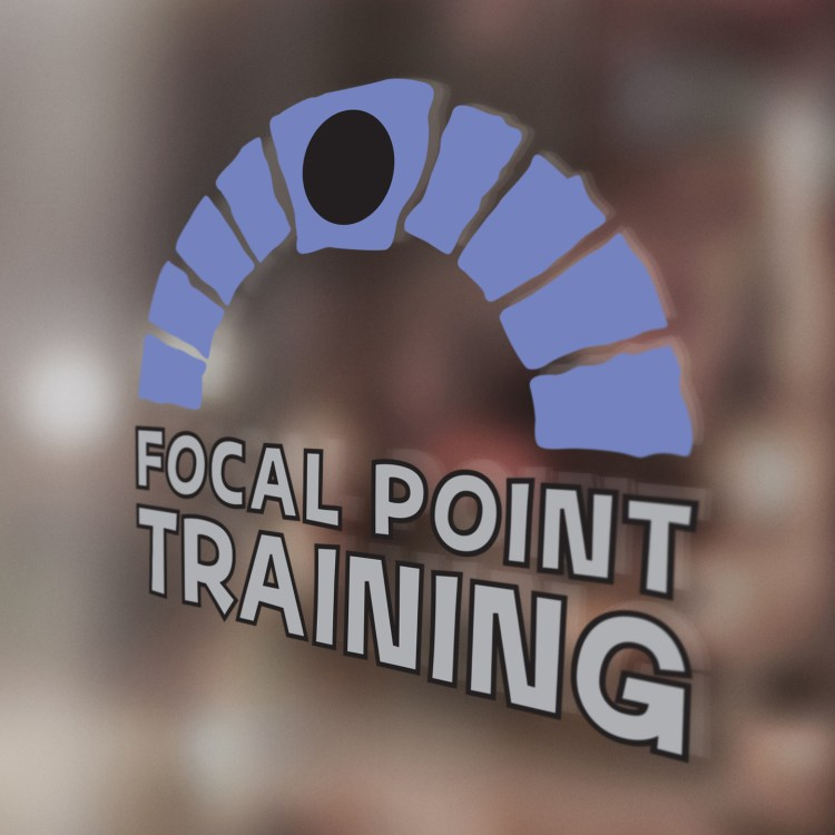 Focal Point Training Logo on Glass